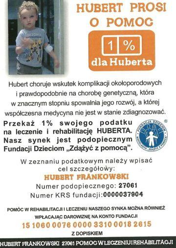 1% dla Turku: Hubert prosi pomoc