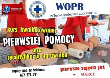 WOPR zaprasza na kurs pierwszej pomocy