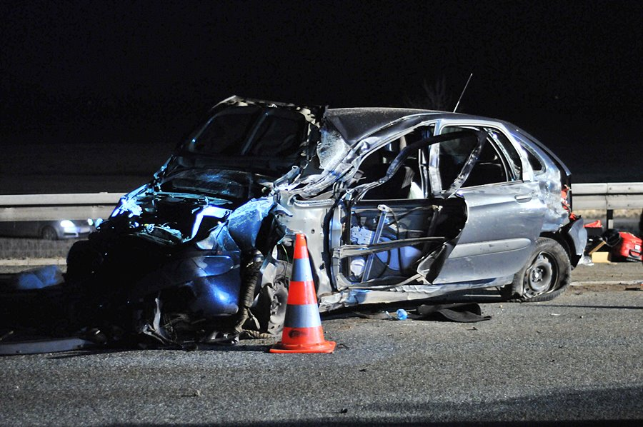 Kuny: Groźny wypadek na A2. Pięć osób poszkodowanych