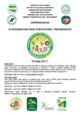 IV Integracyjny Rajd Turystyczno-Przyrodniczy