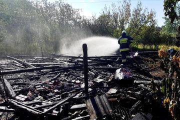Bogdałów Kolonia: Ogień strawił stodołę
