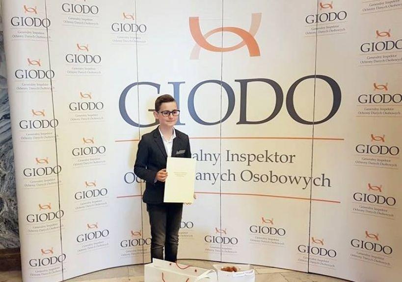 Sukces Igora Jasnowskiego z SP1 w Turku w konkursie organizowanym przez GIODO