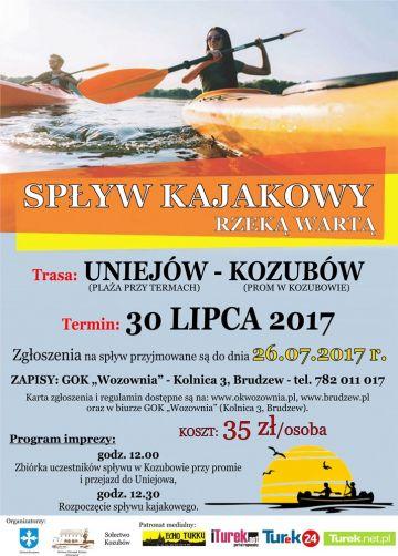 Popłyń kajakiem z Uniejowa do Kozubowa