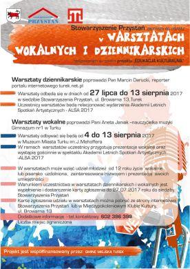 Warsztaty wokalne i dziennikarskie w Przystani