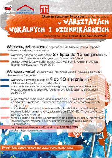 Warsztaty dziennikarskie z Przystanią i Turek.net.pl