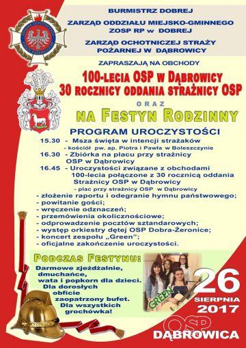 Dąbrowica: Będą świętować 100-lecie OSP
