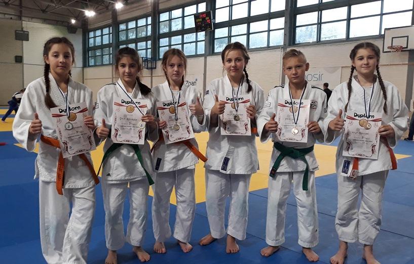 Komplet medali tuliszkowskich judoków w Poznaniu