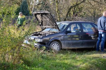 Wymysłów: Wpadł Volkswagenem do sadu