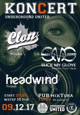 Koncert Underground United: CLoN, Suck My Glove