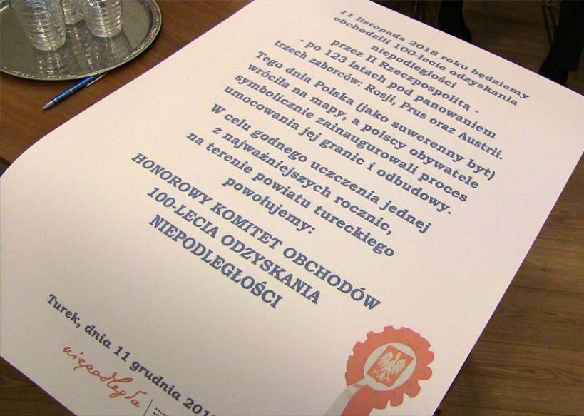 Powstał honorowy komitet obchodów 100-lat odzyskania niepodległości