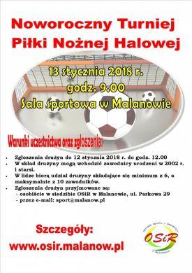 Noworoczny Turniej Piłki Nożnej Halowej w Malanowie