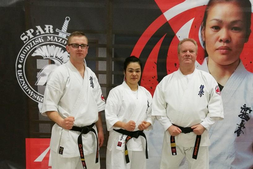 Karatecy trenowali z Shihan Kumiko Sunakawa