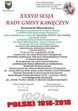 XXXVII sesja Rady Gminy Kawęczyn