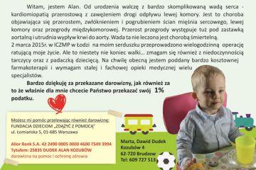 1% dla Turku: Przeczytaj historię małego Alana. Twoja pomoc jest mu bardzo potrzebna