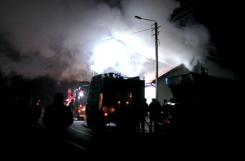 Wideo: Pożar budynku mieszkalnego w Koźminie (gm. Brudzew)