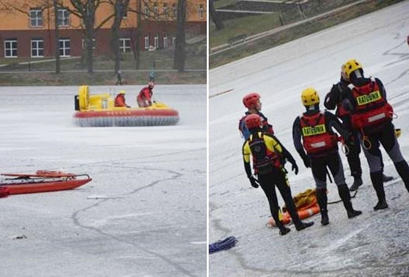 Ratownicy wodni z Turku na ćwiczeniach w Kruszwicy