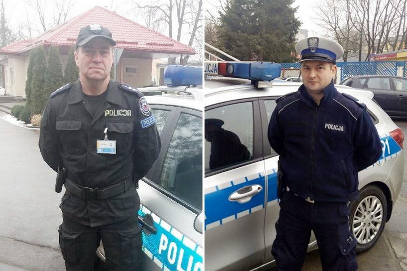 Policjanci eskortowali ciężarną kobietę