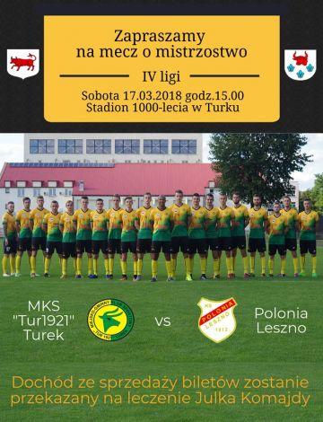 Mecz Tura 1921 z Polonią odwołany!