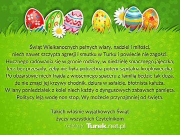 Życzenia Wielkanocne Turek.net.pl