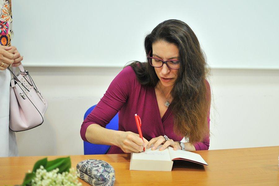 Turkowska Biblioteka gościła Ałbenę Grabowską - foto: M. Derucki