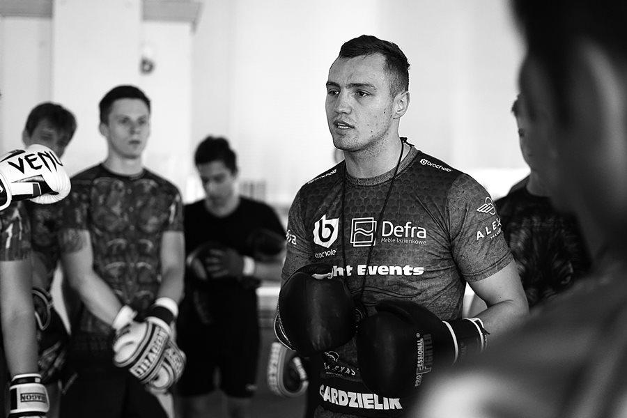Trening z Mistrzem - Kamil Gardzielik w klubie Striker w Turku - foto: E. Gronostaj-Powązka