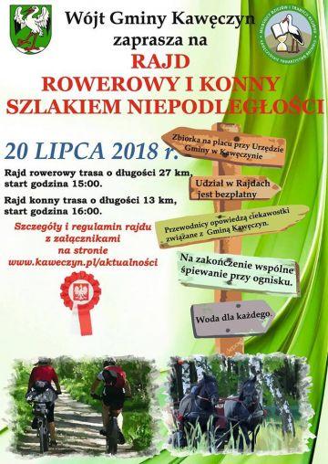 Kawęczyn: Rowerami i konno wyruszą na Szlak Niepodległości