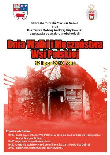 Dobra: Uczcij Dzień Walki i Męczeństwa Wsi Polskiej