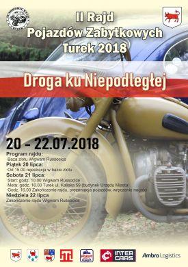 II Rajd Pojazdów Zabytkowych Turek 2018