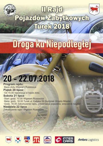Już 20 lipca rusza II Rajd Pojazdów Zabytkowych Turek 2018