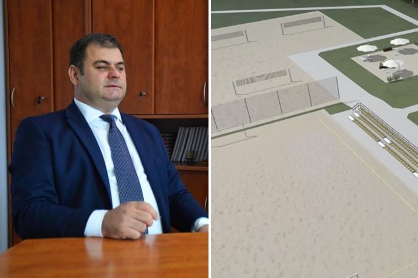 Starosta o Centrum Sportów Plażowych: Burmistrz zawiesił postępowanie. Na swój wniosek - foto: AW / Urząd Miejski w Turku / Vowie Studio