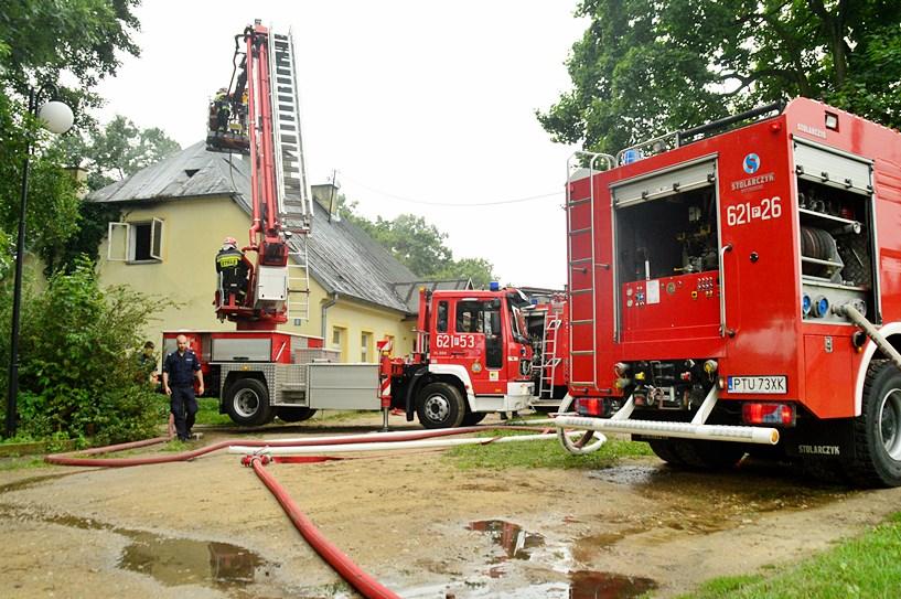 Wideo: Gasili pożar w budynku biblioteki w Słodkowie