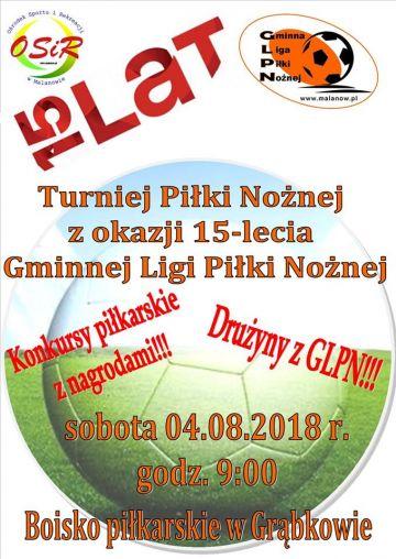 Grąbków: Świętuj 15-lecie Gminnej Ligi Piłki Nożnej