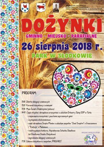 Słodków: Gminno-Miejsko-Parafialne Dożynki już 26 sierpnia