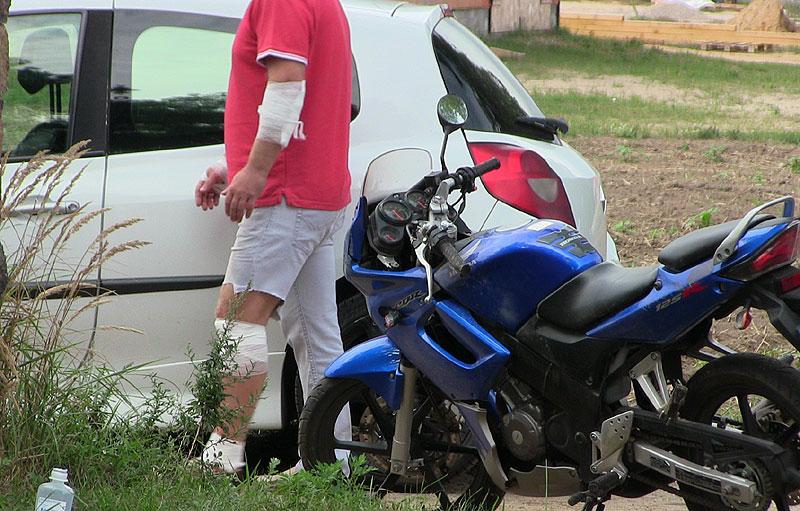 Gm. Brudzew: Motocyklista poturbował się w Galewie