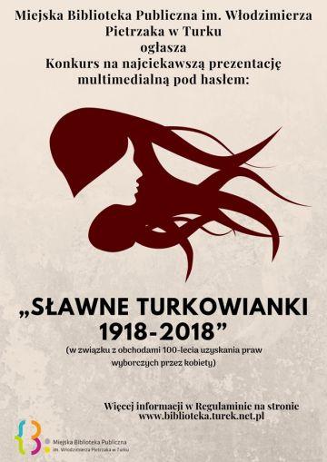Konkurs: Sławne Turkowianki 1918-2018