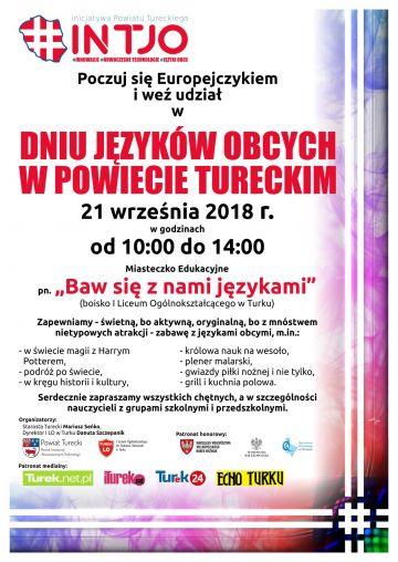Poczuj się Europejczykiem. Weź udział w Dniu Języków Obcych w Powiecie Tureckim