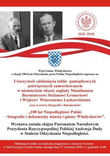 Władysławów: 100 lat Niepodległości - wystawa