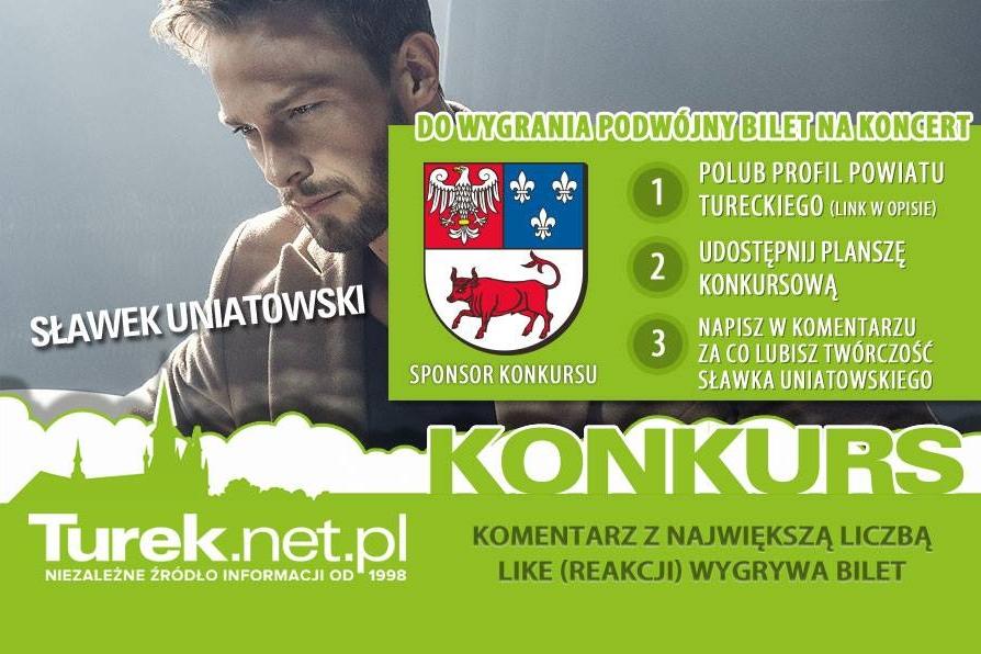 Konkurs: Wygraj podwójne zaproszenie na koncert Sławka Uniatowskiego