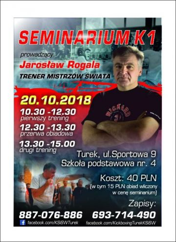 Seminarium K1 z Jarosławem Rogalą