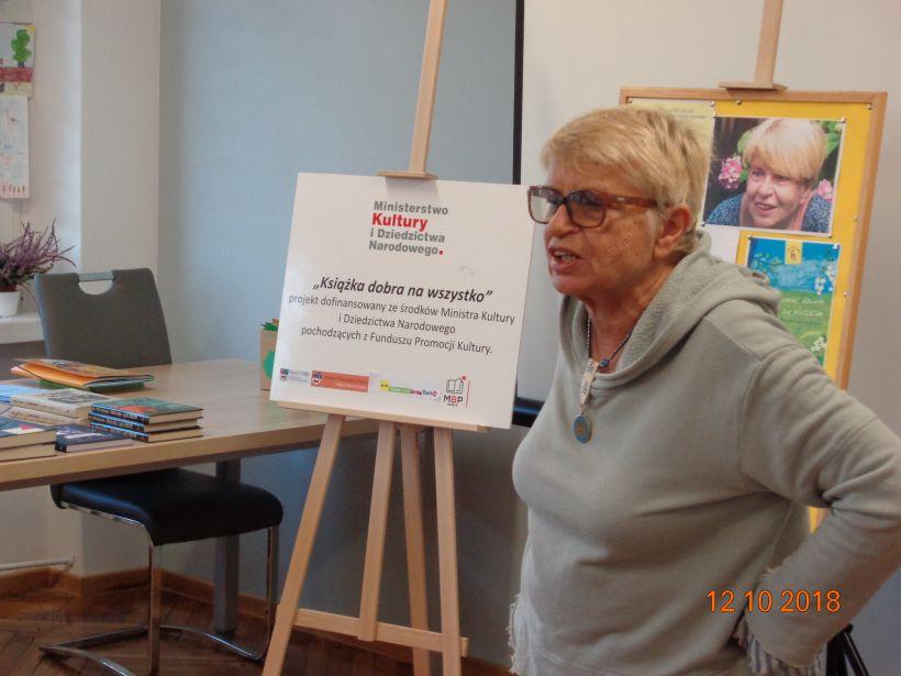 Spotkanie autorskie z Kaliną Jerzykowską w PBP w Turku