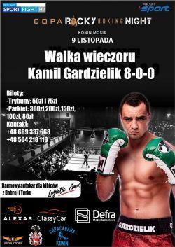 Boks: Kamil Gardzielik na Copa Rocky Boxing Night w Koninie