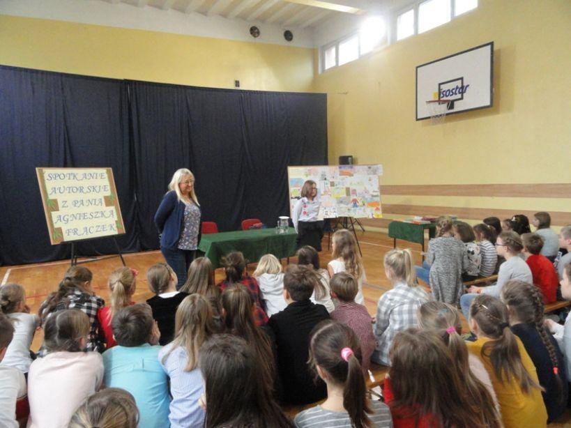 Spotkanie autorskie z panią Agnieszką Frączek - foto: materiał nadesłany