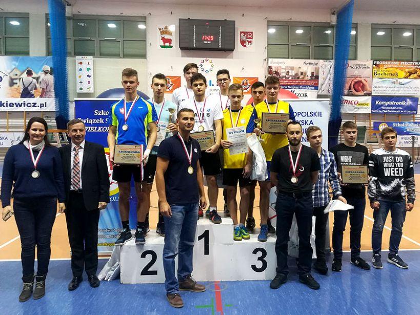 Badmintoniści z ZSR w Kaczkach Śr. medalistami Mistrzostw Wielkopolski SZS