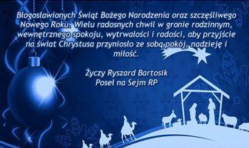 Życzenia Poseł Ryszard Bartosik