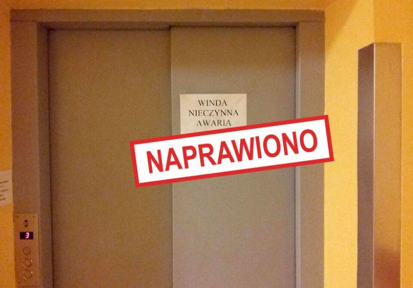 Kłopoty z windą w Turkowskim Szpitalu