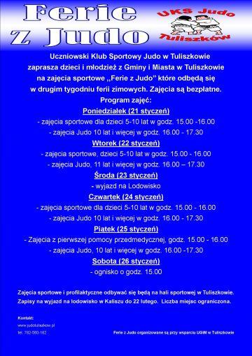 Ferie z judo w Tuliszkowie