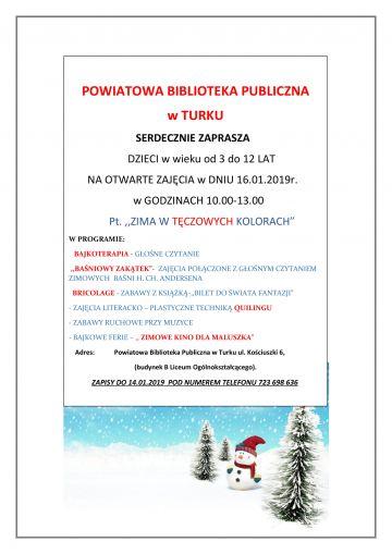 Ferie w Bibliotece Powiatowej: