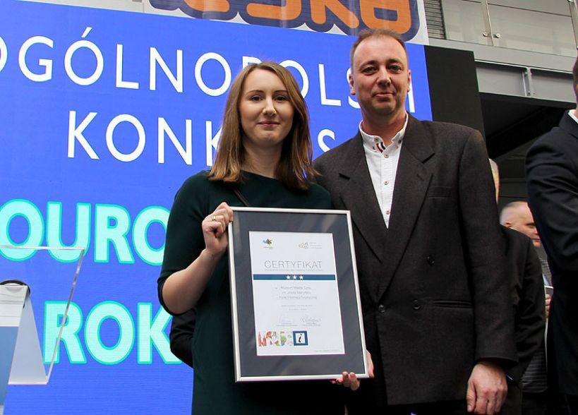 Certyfikat Polskiego Systemu Informacji Turystycznej dla Punktu Informacji Turystycznej w Turku.
