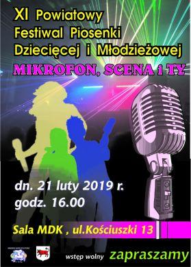 Mikrofon, Scena i Ty