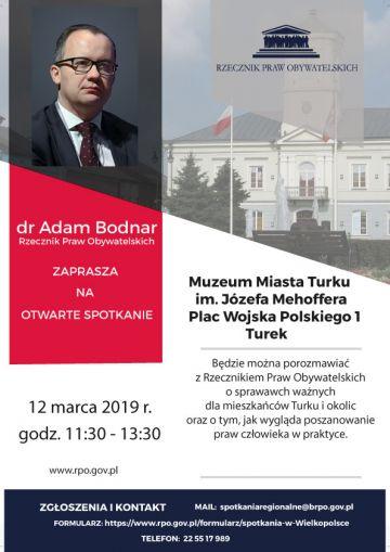 Poznaj swoje prawa! Spotkanie z Rzecznikiem Praw Obywatelskich już 12 marca w Turku